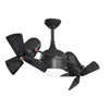 This item: Dagny Matte Black LED Rotational Ceiling Fan with Matte Black Wood Blades