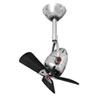 This item: Diane Polished Chrome Oscillating Directional Ceiling Fan with Matte Black Wood Blades