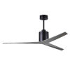This item: Eliza Matte Black 56-Inch Ceiling Fan with Brushed Nickel Blades