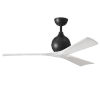 This item: Irene-3 Matte Black and Matte White 52-Inch Outdoor Ceiling Fan