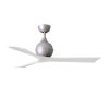 This item: Irene-3 Brushed Nickel and Matte White 52-Inch Outdoor Ceiling Fan
