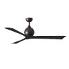 This item: Irene-3 Textured Bronze and Matte Black 60-Inch Outdoor Ceiling Fan