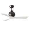 This item: Irene-3 Textured Bronze and Matte White 42-Inch Outdoor Ceiling Fan