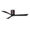 This item: Irene-3H Brushed Bronze and Matte Black 52-Inch Outdoor Ceiling Fan