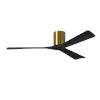This item: Irene-3H Brushed Brass and Matte Black 60-Inch Outdoor Ceiling Fan