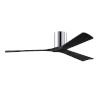 This item: Irene-3H Polished Chrome and Matte Black 60-Inch Outdoor Ceiling Fan