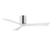 This item: Irene-3H Polished Chrome and Matte White 52-Inch Outdoor Ceiling Fan