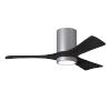This item: Irene-3HLK Brushed Nickel and Matte Black 42-Inch Ceiling Fan with LED Light Kit
