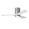 This item: Irene-3HLK Brushed Nickel and Matte White 42-Inch Ceiling Fan with LED Light Kit