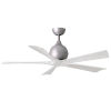This item: Irene-5 Brushed Nickel and Matte White 52-Inch Outdoor Ceiling Fan