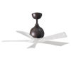 This item: Irene-5 Textured Bronze and Matte White 42-Inch Outdoor Ceiling Fan
