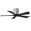 This item: Irene-5H Brushed Nickel and Matte Black 42-Inch Outdoor Ceiling Fan