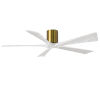 This item: Irene-5H Brushed Brass and Matte White 60-Inch Outdoor Ceiling Fan