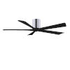 This item: Irene-5H Polished Chrome and Matte Black 60-Inch Outdoor Ceiling Fan
