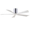 This item: Irene-5H Polished Chrome and Matte White 52-Inch Outdoor Ceiling Fan