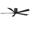 This item: Irene-5H Textured Bronze and Matte Black 60-Inch Outdoor Ceiling Fan