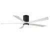 This item: Irene-5HLK Matte Black and Matte White 60-Inch Ceiling Fan with LED Light Kit