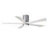 This item: Irene-5HLK Brushed Nickel and Matte White 52-Inch Ceiling Fan with LED Light Kit