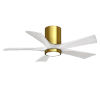 This item: Irene-5HLK Brushed Brass and Matte White 42-Inch Ceiling Fan with LED Light Kit