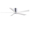 This item: Irene-5HLK Polished Chrome and Matte White 60-Inch Ceiling Fan with LED Light Kit