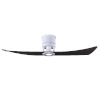 This item: Lindsay Matte White and Matte Black 52-Inch Ceiling Fan with LED Light Kit