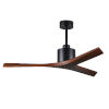 This item: Mollywood Matte Black 52-Inch Ceiling Fan with Walnut Blades