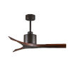 This item: Mollywood Textured Bronze 42-Inch Ceiling Fan with Walnut Blades