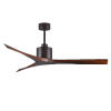 This item: Mollywood Textured Bronze 60-Inch Ceiling Fan with Walnut Blades