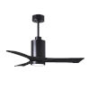 This item: Patricia-3 Matte Black 42-Inch Ceiling Fan with LED Light Kit
