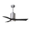 This item: Patricia-3 Brushed Nickel and Matte Black 42-Inch Ceiling Fan with LED Light Kit