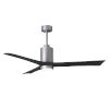 This item: Patricia-3 Brushed Nickel and Matte Black 60-Inch Ceiling Fan with LED Light Kit