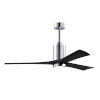 This item: Patricia-3 Polished Chrome and Matte Black 60-Inch Ceiling Fan with LED Light Kit