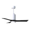 This item: Patricia-3 Gloss White and Matte Black 42-Inch Ceiling Fan with LED Light Kit