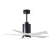 This item: Patricia-5 Matte Black and Matte White 42-Inch Ceiling Fan with LED Light Kit