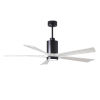 This item: Patricia-5 Matte Black and Matte White 60-Inch Ceiling Fan with LED Light Kit