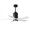 This item: Patricia-5 Textured Bronze and Matte White 42-Inch Ceiling Fan with LED Light Kit
