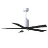 This item: Patricia-5 Gloss White and Matte Black 52-Inch Ceiling Fan with LED Light Kit