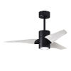 This item: Super Janet Matte Black and Matte White 42-Inch Ceiling Fan with LED Light Kit