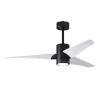 This item: Super Janet Matte Black and Matte White 52-Inch Ceiling Fan with LED Light Kit