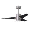 This item: Super Janet Brushed Nickel and Matte Black 42-Inch Ceiling Fan with LED Light Kit