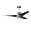 This item: Super Janet Brushed Nickel and Matte Black 52-Inch Ceiling Fan with LED Light Kit