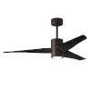 This item: Super Janet Textured Bronze and Matte Black 52-Inch Ceiling Fan with LED Light Kit