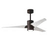 This item: Super Janet Textured Bronze and Matte White 52-Inch Ceiling Fan with LED Light Kit
