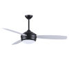 This item: T-24 Matte Black 52-Inch LED Ceiling Fan with Brushed Nickel Blades