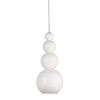 This item: White 5-Inch One-Light Mini-Pendant with 25W
