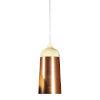This item: Glaze Cream and Copper 6-Inch One-Light Mini-Pendant 8W