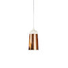 This item: Glaze White and Copper 6-Inch One-Light Mini-Pendant 8W