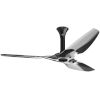 This item: Haiku Black 60-Inch Smart Ceiling Fan with Polished Aluminum Blades