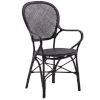 This item: Rossini Black Dining Armchair