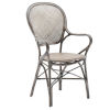 This item: Rossini Taupe Gray Dining Armchair